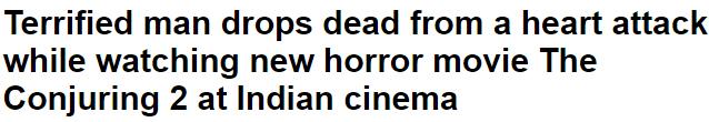 حقيقة وفاة 37 شخص اثناء مشاهدة فيلم The conjuring 2