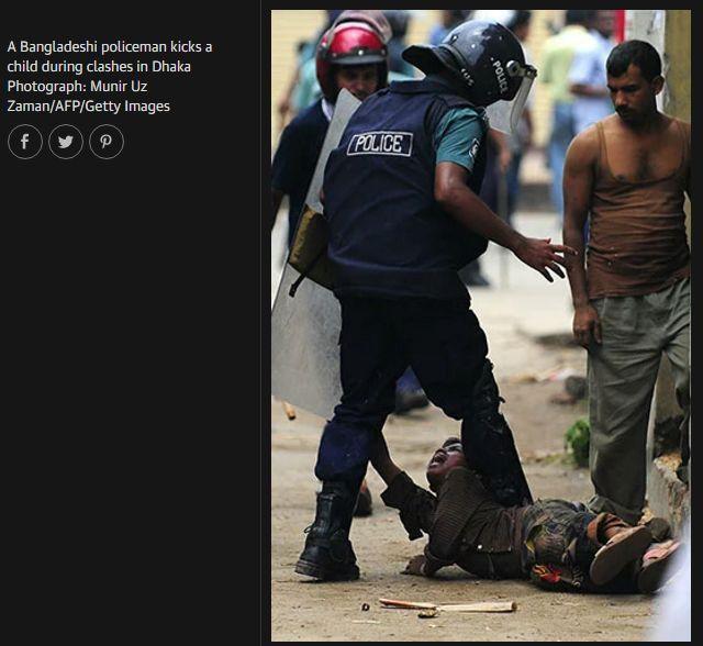 حقيقة صورة ضرب طفل مسلم في بورما
