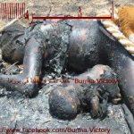 حقيقية حرق ام و طفلها في بورما