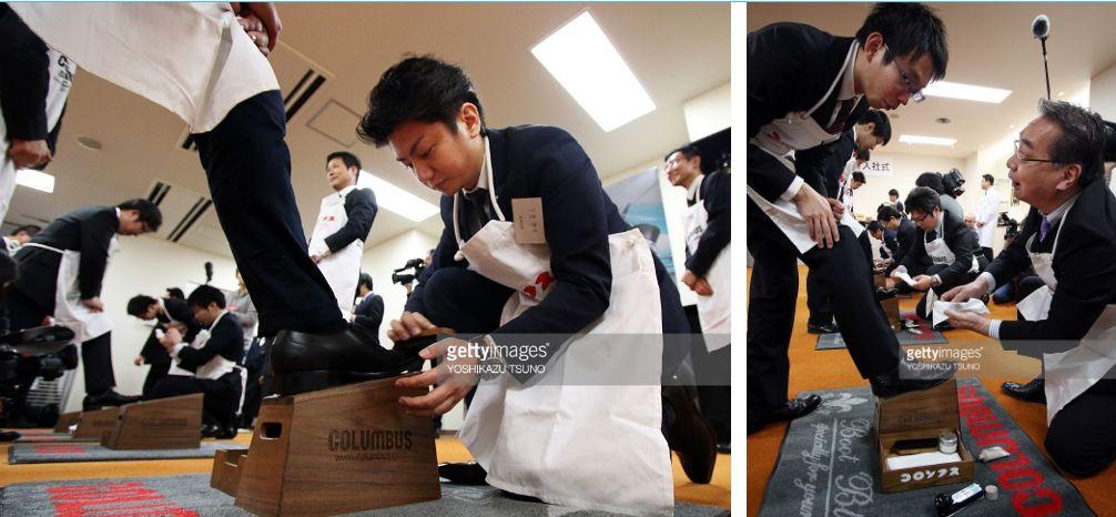 حقيقة مسح مدراء في اليابان لأحذية الموظفين