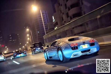 """حقيقة صورة سيارة """" بوجاتي فايرون"""" على الطريق الدائري في مصر"""