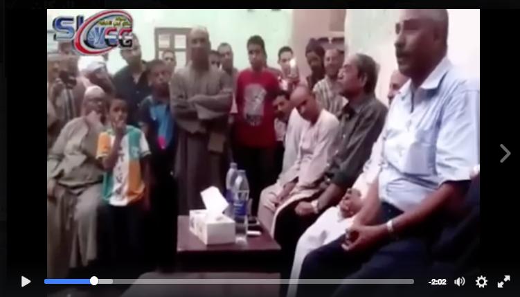 حقيقة فيديو الجلسة العرفية التي فرضت علي الاقباط للمصالحة بالفشن