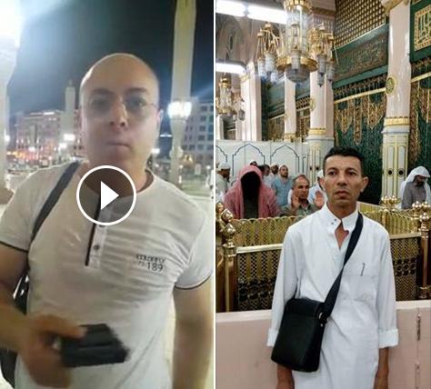 حقيقة صورة رجل وجهه اسود في المسجد النبوي