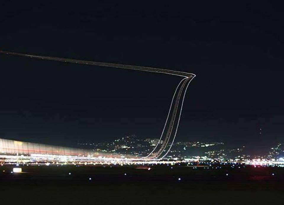 حقيقة رسم ممر هبوط الطائرات بالليزر في اليابان