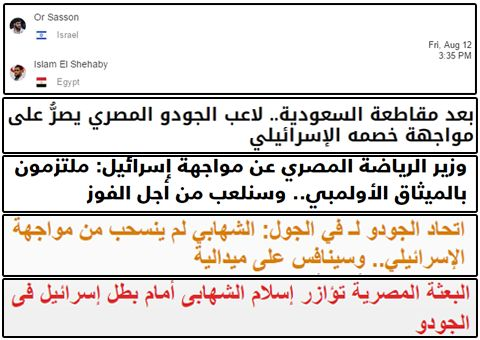 حقيقه انسحاب لاعب الجودو المصري إسلام الشهابي من مواجهة اللاعب الإسرائيلي