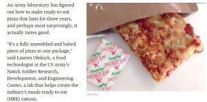 حقيقة تصنيع الجيش الأمريكي للبيتزا وتوصيلها للمواطنين