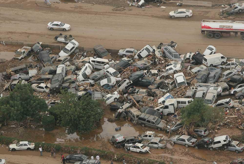 حقيقة صورة لفيضانات راس غارب
