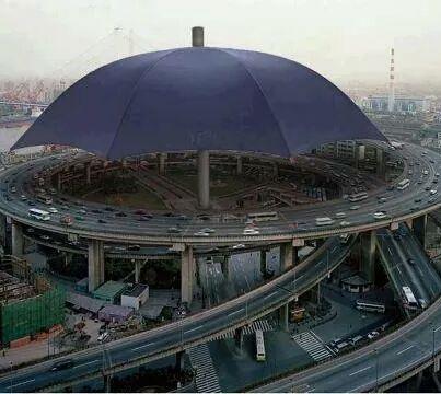 حقيقة أكبر مظلة في العالم في الصين