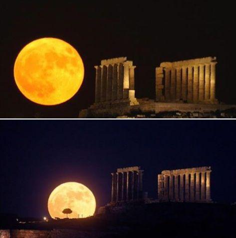 حقيقة صور للقمر في الأقصر