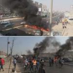 حقيقة مظاهرات و قطع الطريق في شارع فيصل
