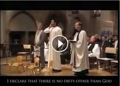 حقيقة فيديو  رفع الأذان من كنيسة بصوت جميل