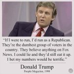 حقيقة تصريح ترامب بأن الناخبين الجمهوريين أغبياء