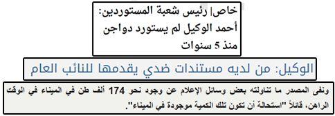 حقيقة استيراد أحمد الوكيل 147 الف طن دواجن معفية من الجمارك