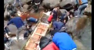 انهيار جسر زجاجي في الصين