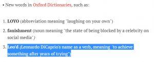"""حقيقة إضافة كلمة """"ليو Leo"""" إلى قاموس أوكسفورد"""