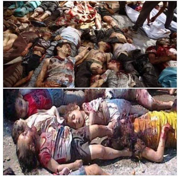 حقيقة صور لشهداء حادث أقباط المنيا