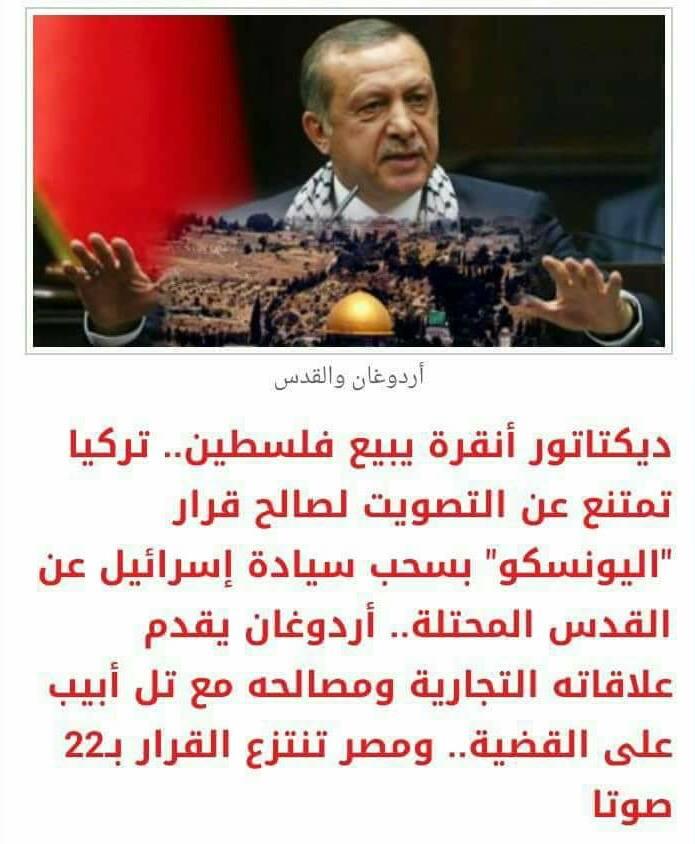 حقيقة امتناع تركيا عن التصويت لصالح قرار يدعم فلسطين ضد  إسرائيل في اليونسكو