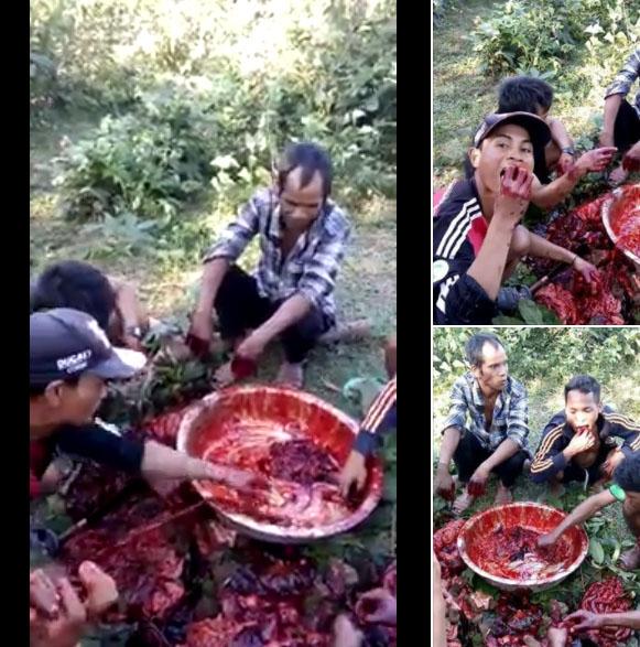 بورما الكفرة يذبحون إخواننا المسلمين كما تذبح الخراف ويأكلون لحومهم