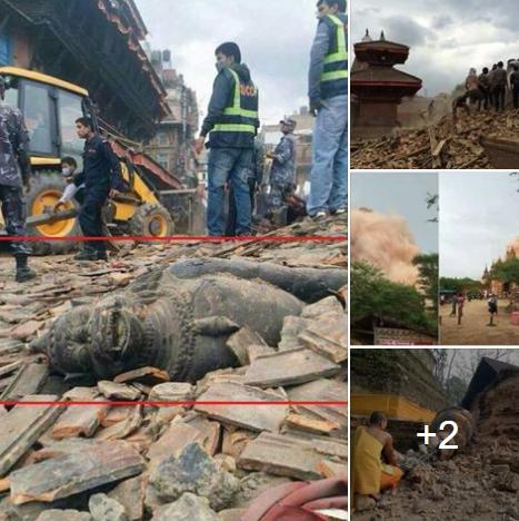 حقيقة زلزال في بورما يدمر المعابد البوذية