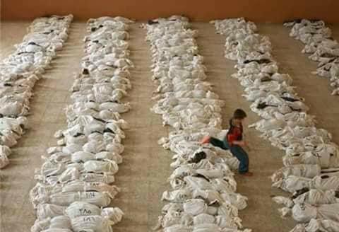 حقيقة صورة اطفال في الغوطة