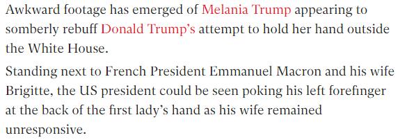حقيقة تحرش ترامب بزوجة ماكرون