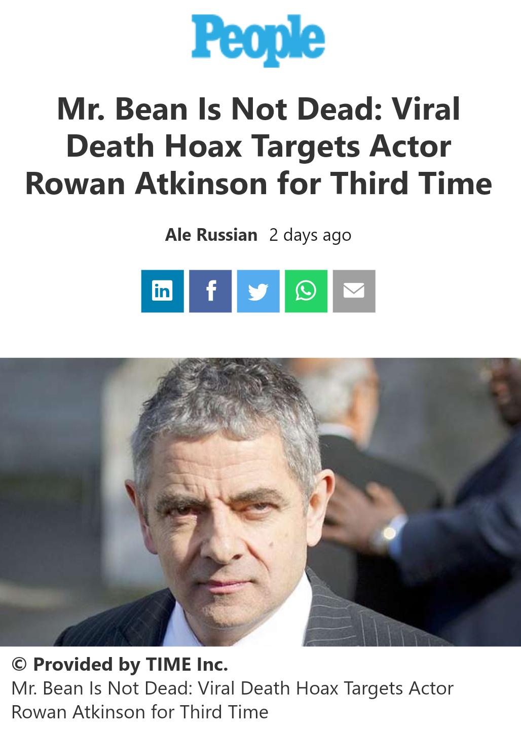 حقيقة وفاة مستر بين