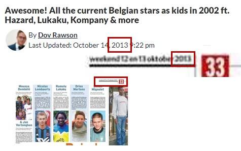حقيقة توقع صحفي بلجيكي سنة 2002 بنجوم المنتخب الحاليين