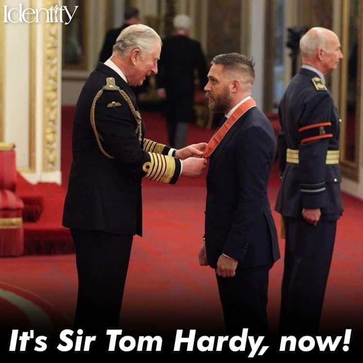 حقيقة حصول توم هاردي على لقب سير