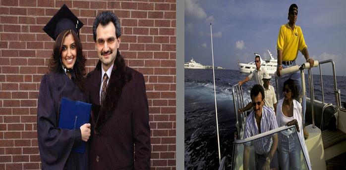 حقيقة ان صفاء الهاشم فلسطينية ومتصورة مع الوليد بن طلال على البحر