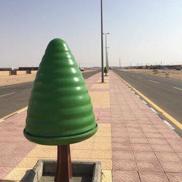 حقيقة الشجر البلاستيك في شوارع مصر