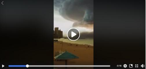حقيقة فيديو لإعصار في الإسكندرية