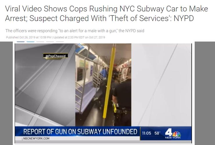 حقيقة القبض على راكب لا يحمل تذكرة مترو  في نيويورك