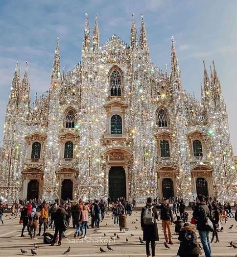 حقيقة صورة كاتدرائية ميلانو المرصعة بالألماس