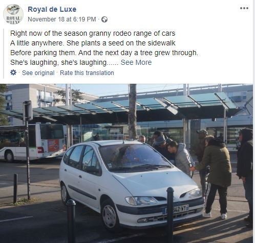 حقيقة شجرة تخترق سيارة في فرنسا