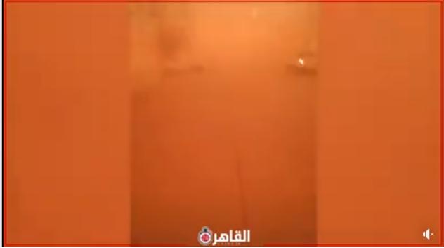 حقيقة فيديو العاصفة الترابية في مرسى مطروح
