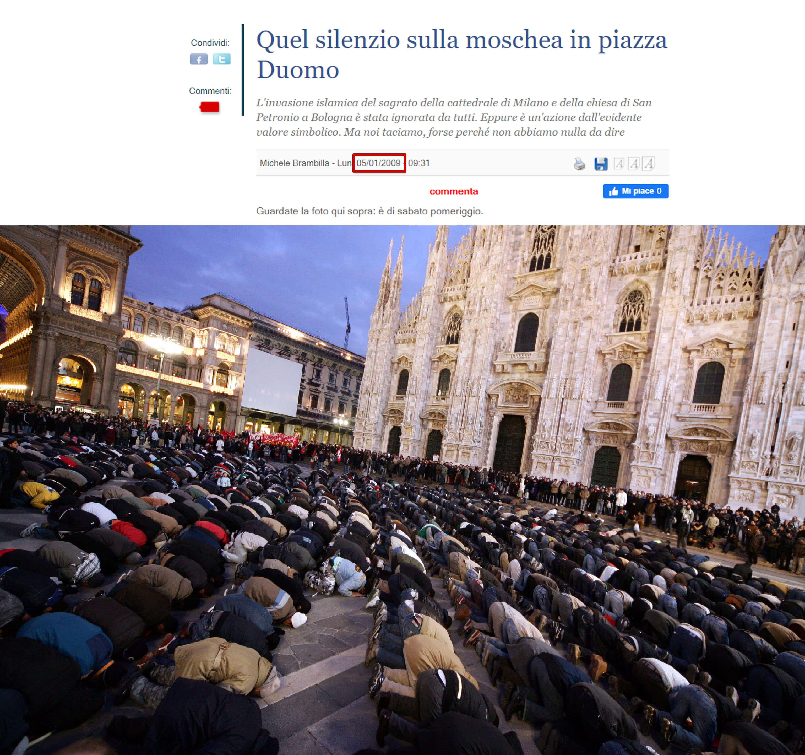 حقيقة صلاة المسلمين في ميلانو لرفع البلاء بسبب كورونا