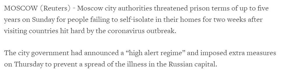 حقيقة بيان بوتين للشعب الروسي بالاختياربين الحجر الصحي أو السجن
