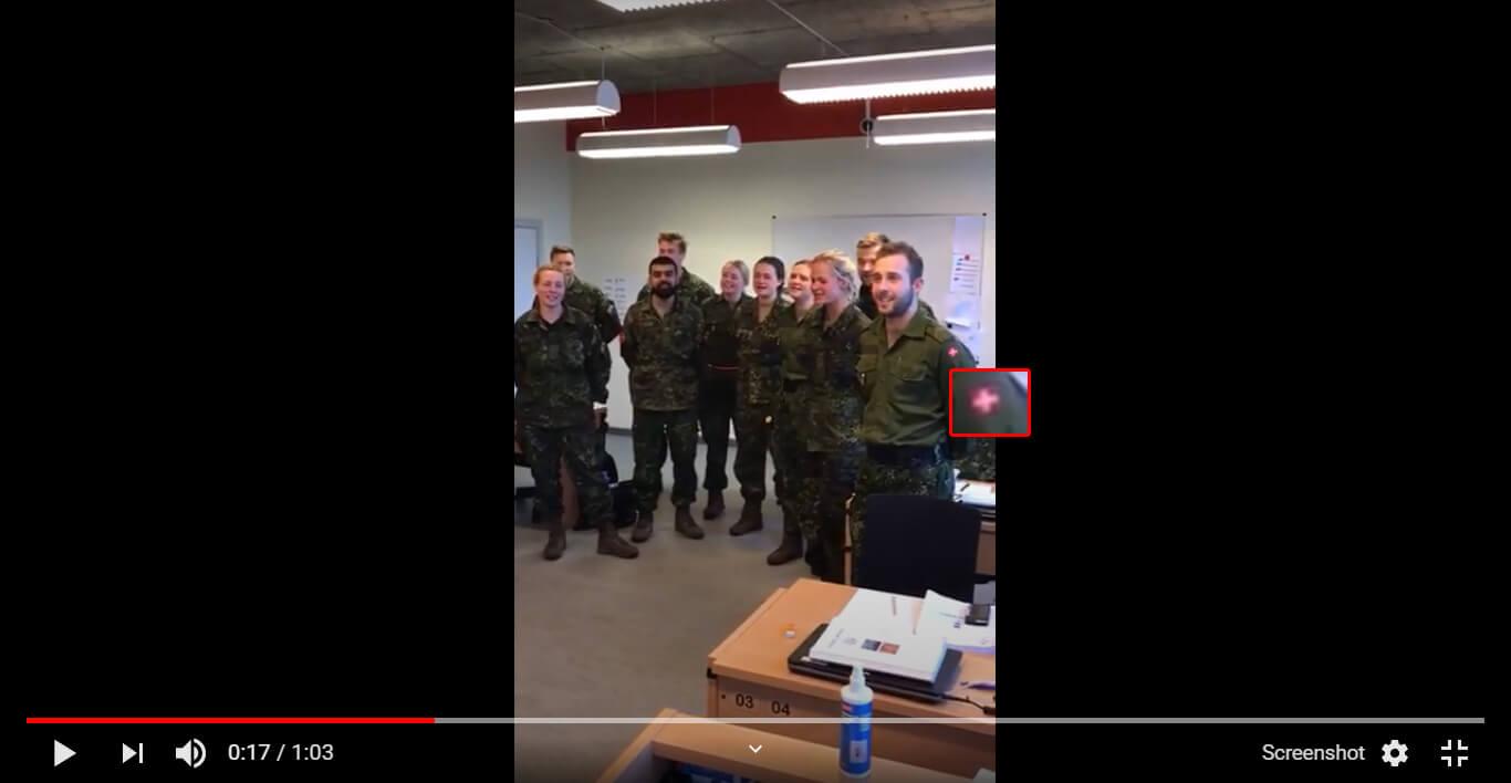 حقيقة فيديو الجيش السويسري بيغني النشيد الوطني المصري