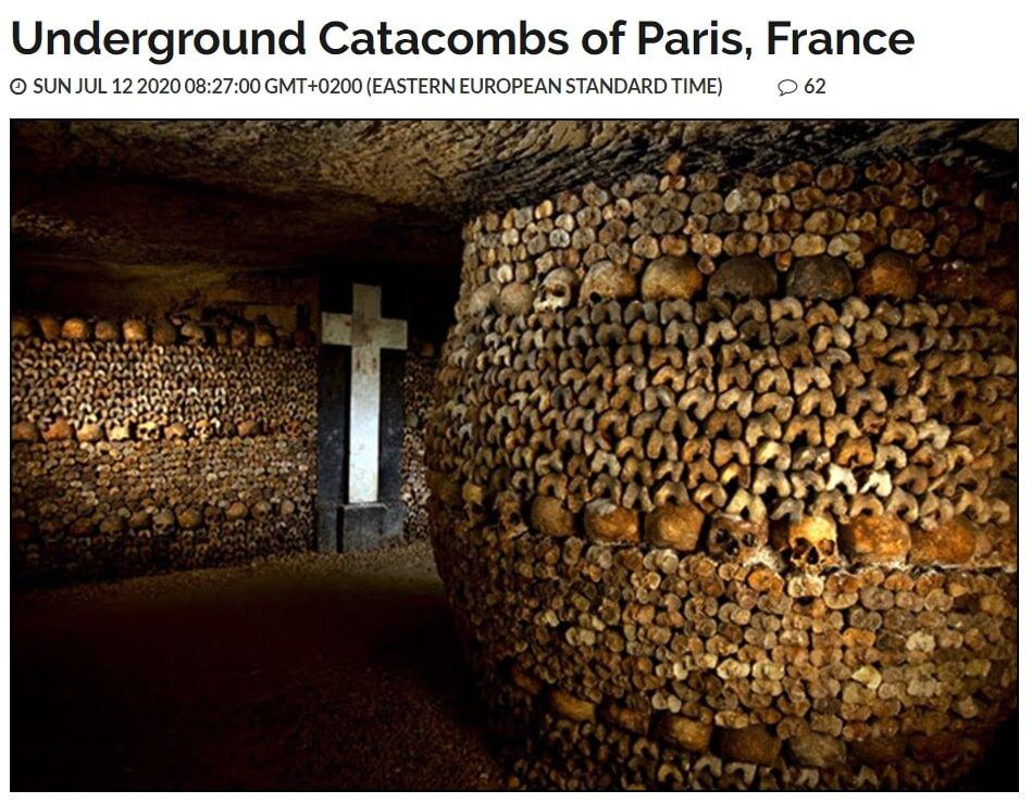 حقيقة صورة لكنيسة فى فرنسا تم بناؤها من جماجم العرب والمسلمين