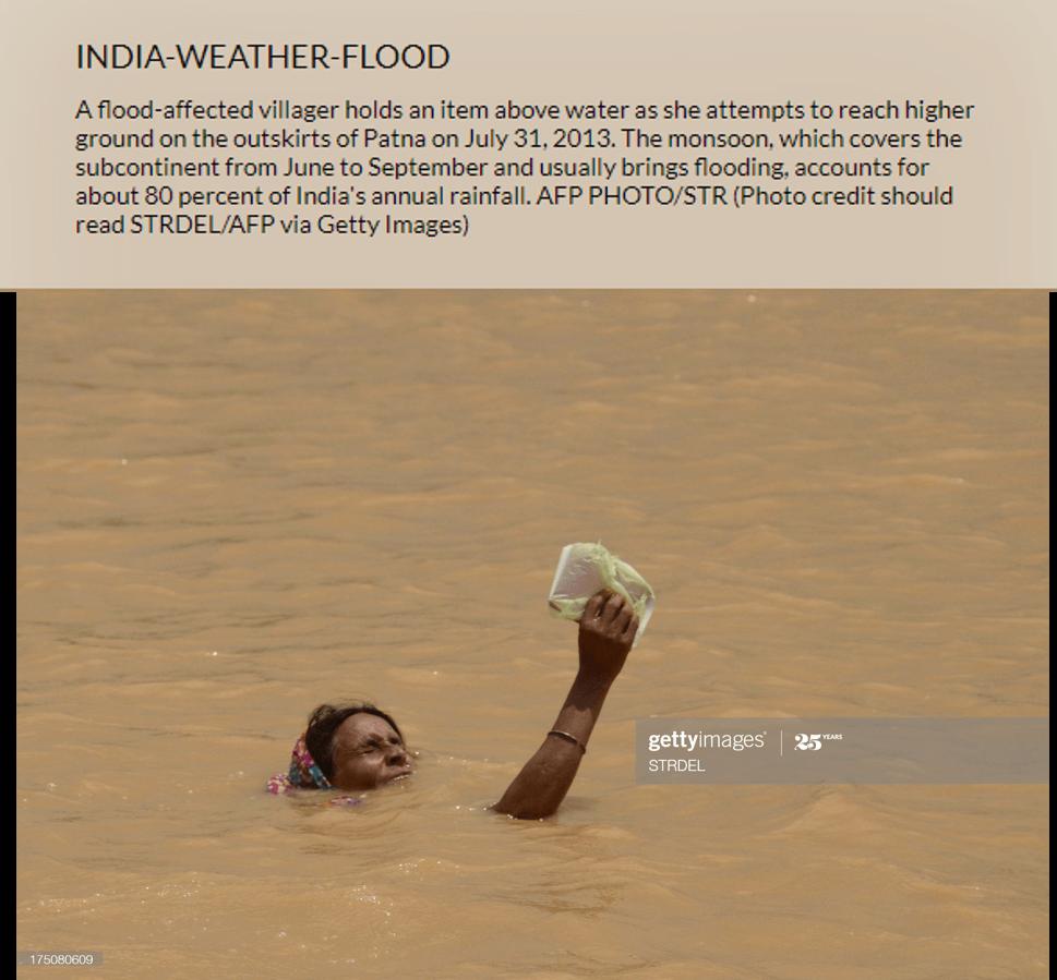 حقيقة صورة منتشرة لغرق سيدة اثناء فيضان السودان