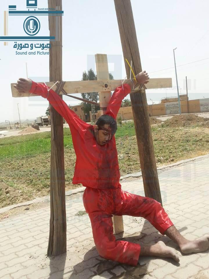 حقيقة اعدام شاب مصري على الصليب