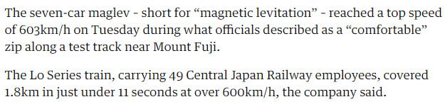 حقيقة القطار الياباني بسرعة 4800 كم/س