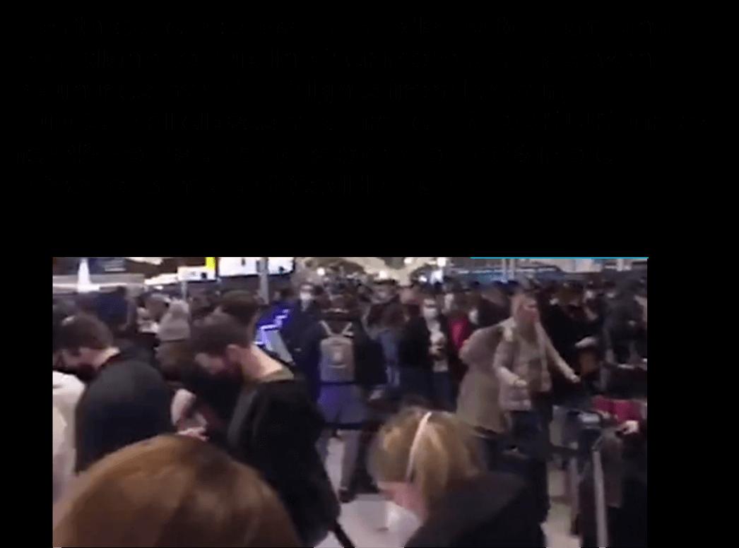 حقيقية تكدس المواطنين الأنجليز في المطارات البريطانية هربا من السلاله الجديدة من فيروس كورونا