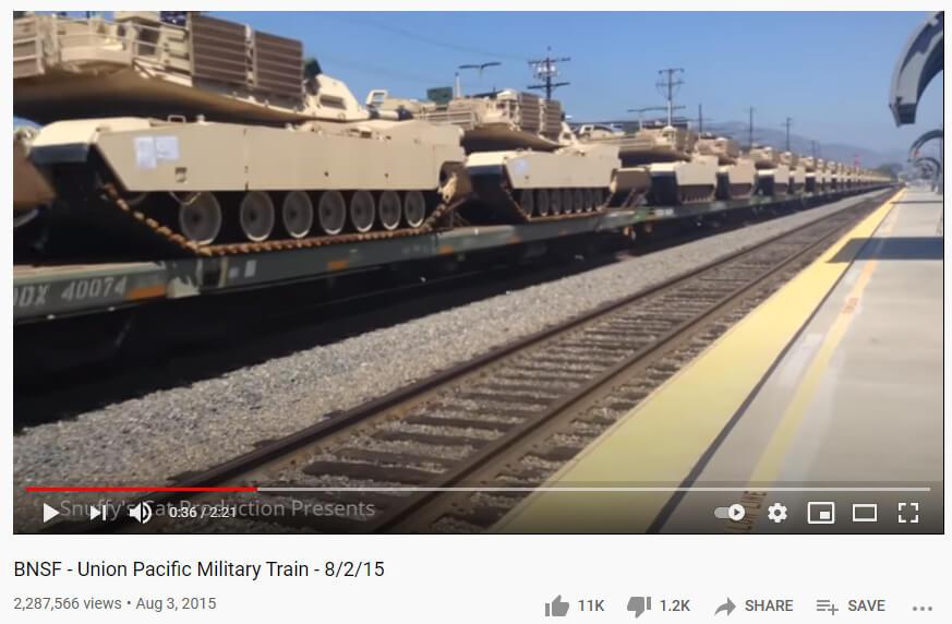 حقيقة قطار معدات للجيش المصري