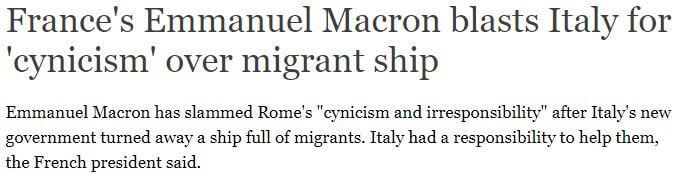 حقيقة رد رئيسة إيطاليا على تصريحات ماكرون