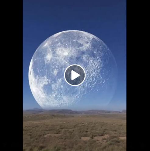 حقيقة فيديو ظهور القمر في القطب الشمالي