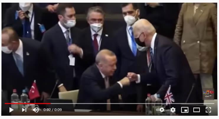 حقيقة تقبيل أردوغان ليد بايدن